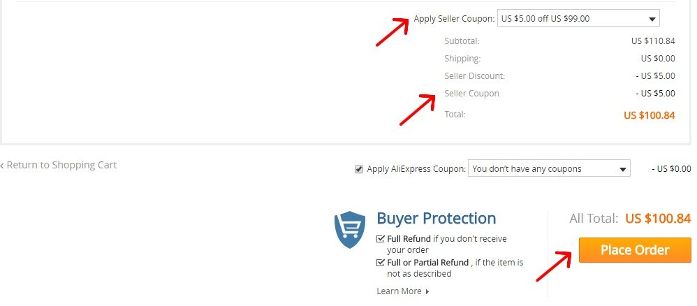 29 - How to use discount coupons on AliExpress
