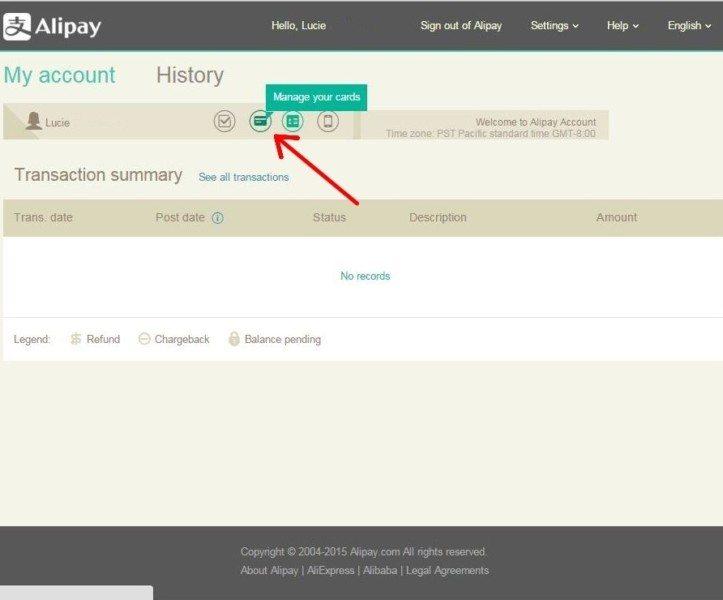 Registration Alipay 10