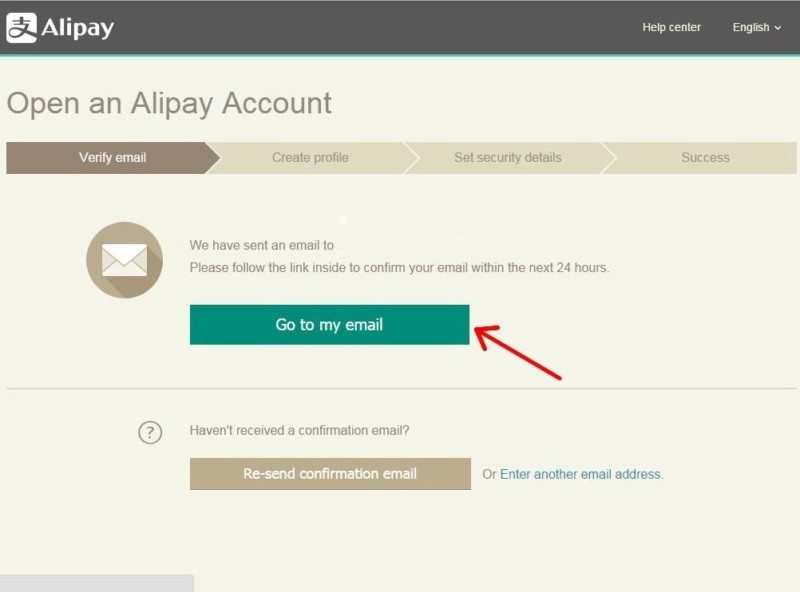 Registration Alipay 5