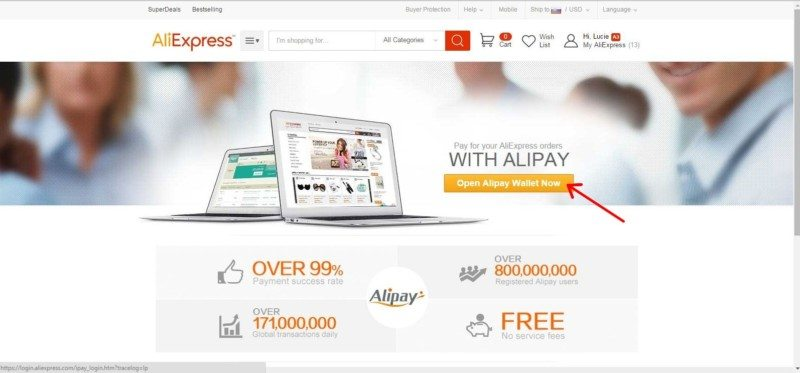aliexpress-Registration Alipay 2
