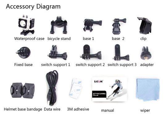 SJ cam GoPro accessories camera action sport Aliexpress