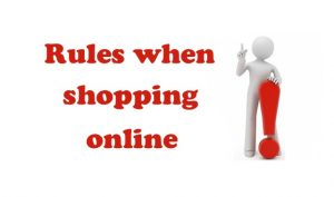Rules when shopping buying online Aliexpress ENG