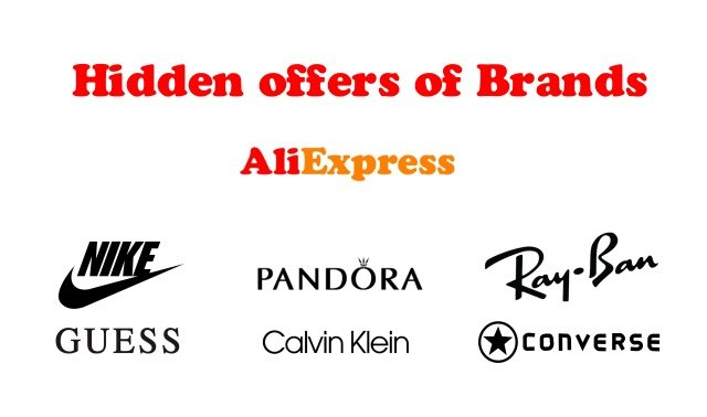 Hidden offers of brands Aliexpress ENG
