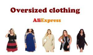 Oversized clothing plus size aliexpress dress ENG