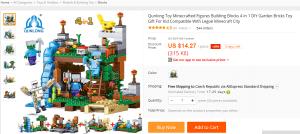 Minecraft Aliexpress lego stavebnice
