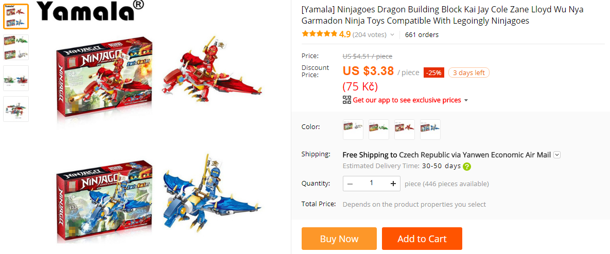 Ninjago Drak Lego Stavebnice Aliexpress