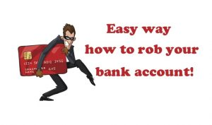 how to rob your bank account ENG Aliexpress