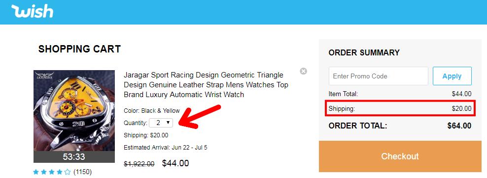 Aliexpress Wish shopping not to buy china 10 shipping cost 2