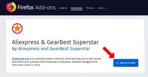 Aliexpress Superstar install addon to Mozilla Firefox1