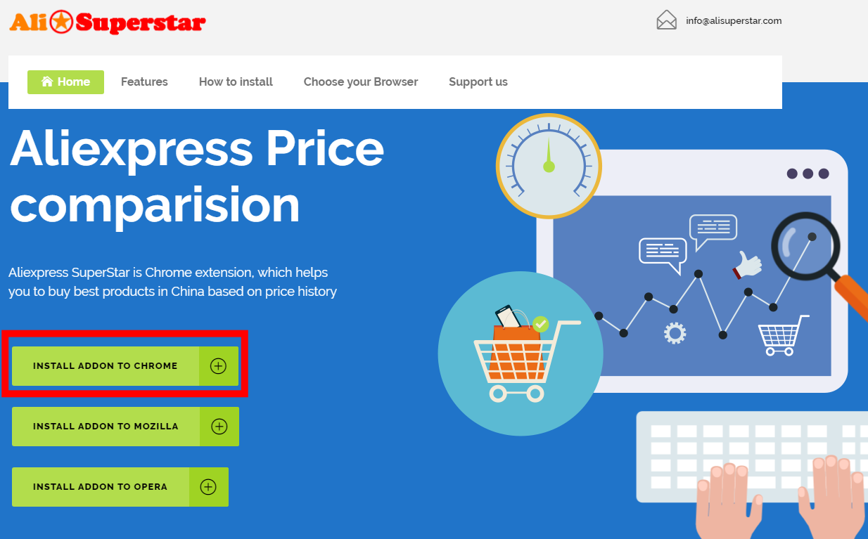 Aliexpress Superstar install addon to chrome 1