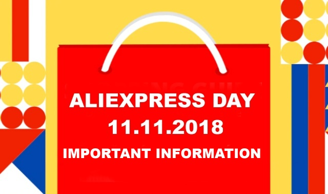 Aliexpress Day 11.11.2018 shopping pre order information ENG