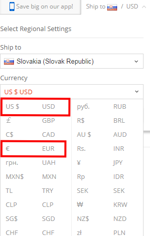 currency aliexpress
