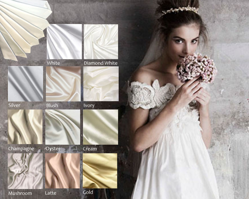 wedding dress grown colors materials