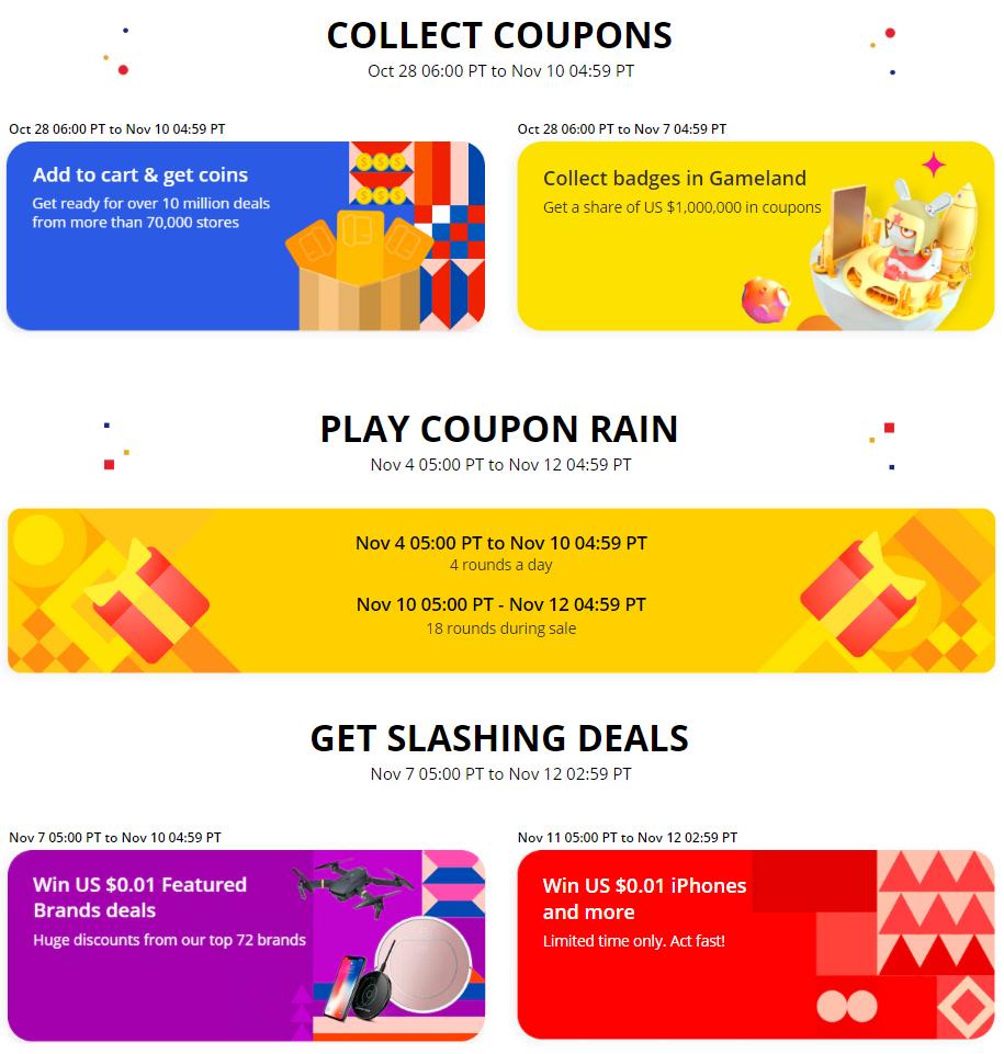 Aliexpress 11.11.2018 shopping festival pre order 10