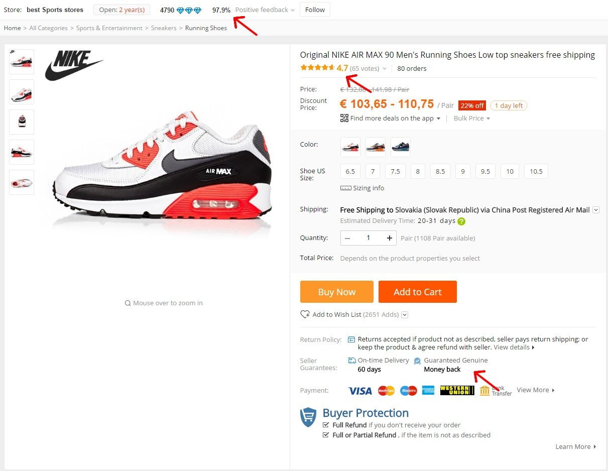 usuario Malversar cortar  How to find the original NIKE sneakers on AliExpress - AliManiac