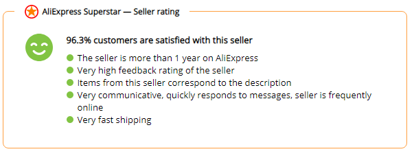 Aliexpress Superstar price history seller rating 3