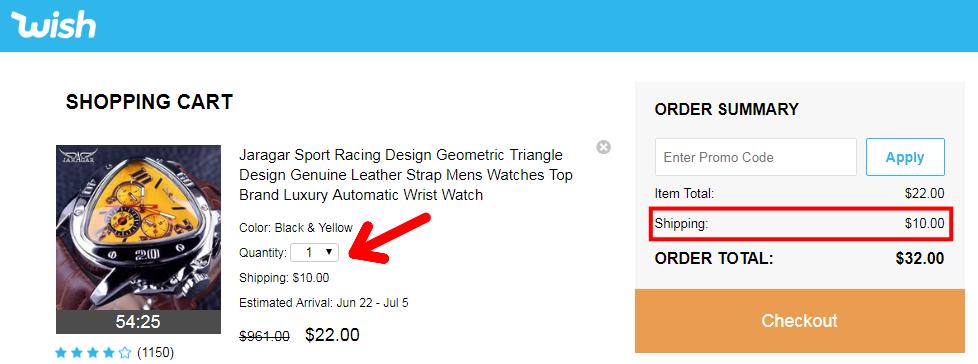 Aliexpress Wish shopping not to buy china 9 shipping cost
