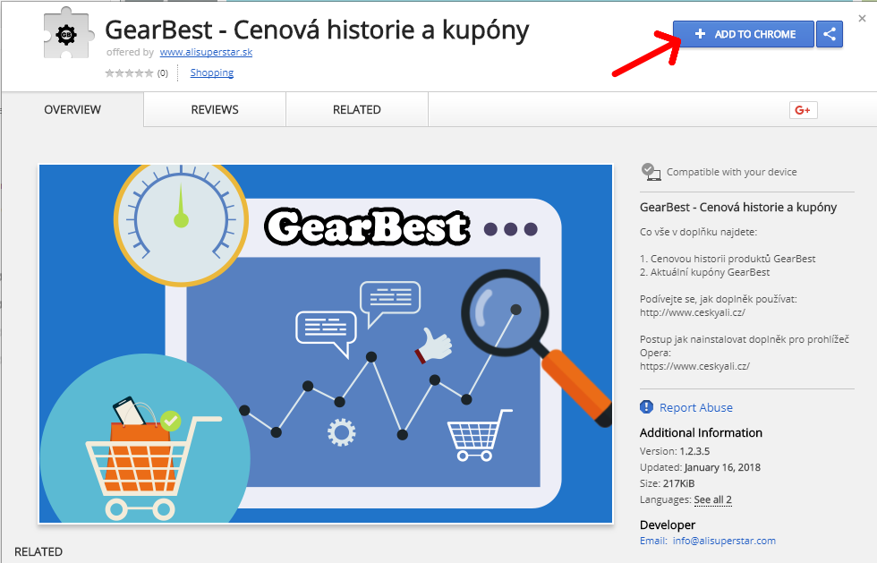 GearBest Star doplnek do chrome kupony