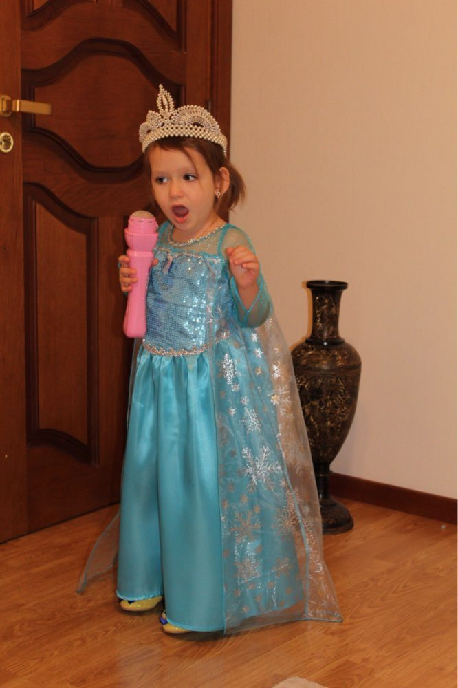 Costume Anna Elsa frozen aliexpress