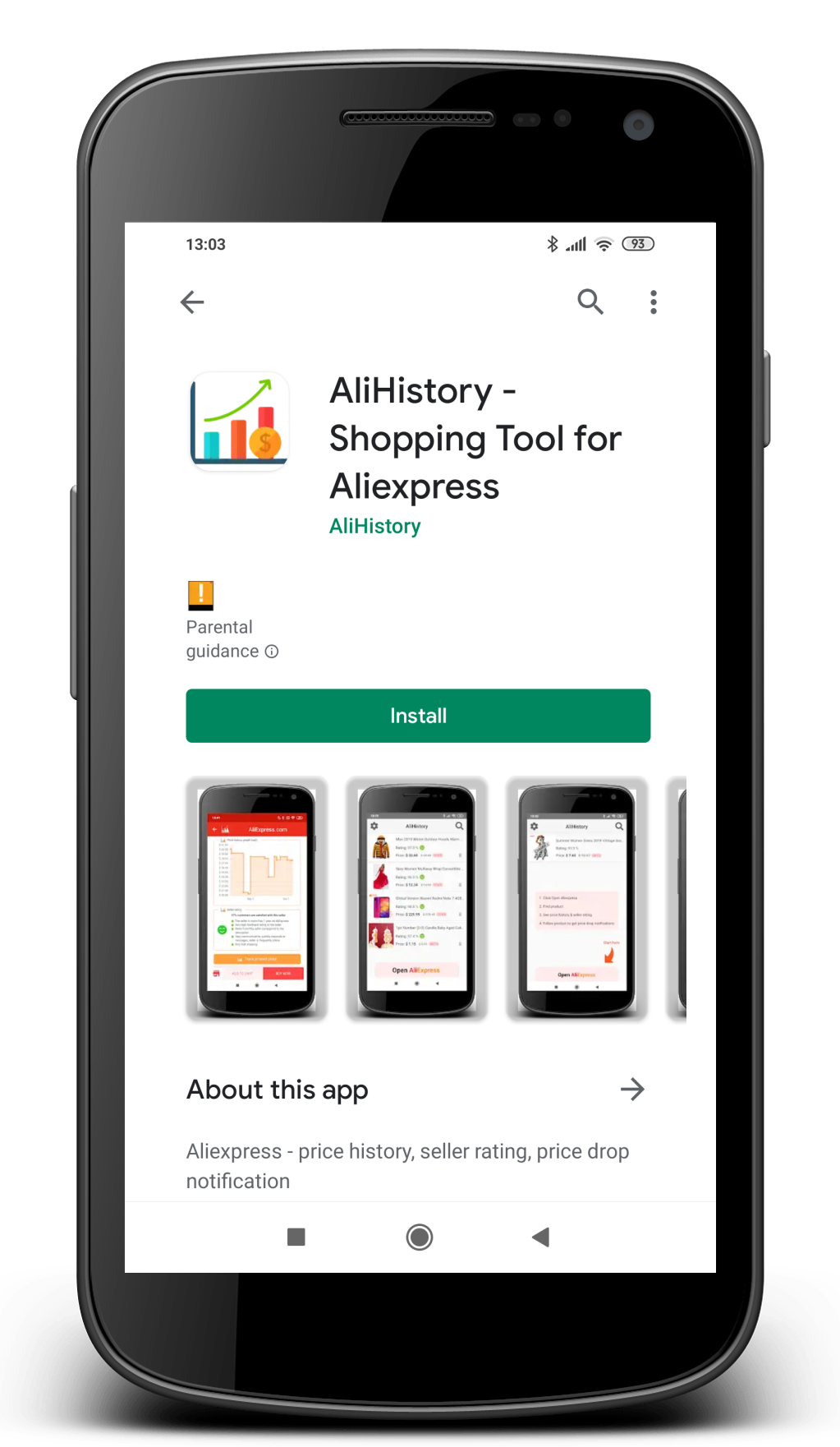 Aliexpress AliHistory google play store app shopping