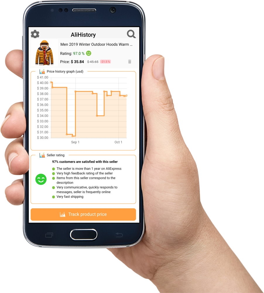 AliHistory aliexpress price tracking seller rating app