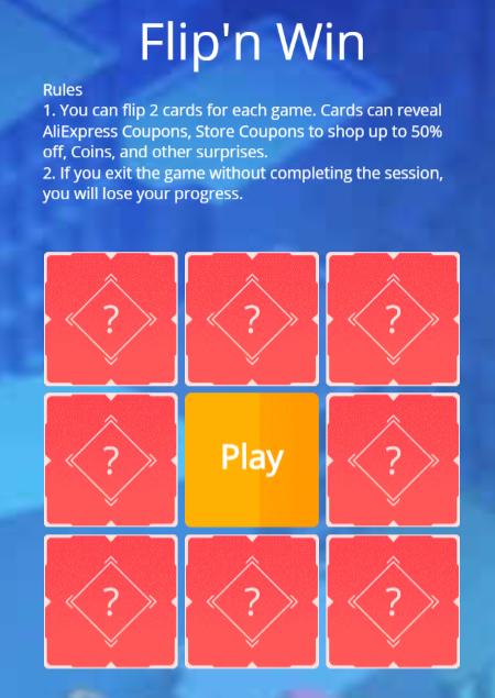 Aliexpress vymena kuponu coupons coins 11 11 2019 Flip and win