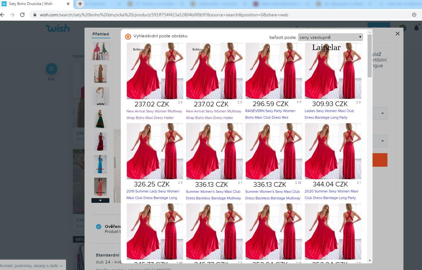 Vyhledavani podle obrazku Aliexpress wish saty