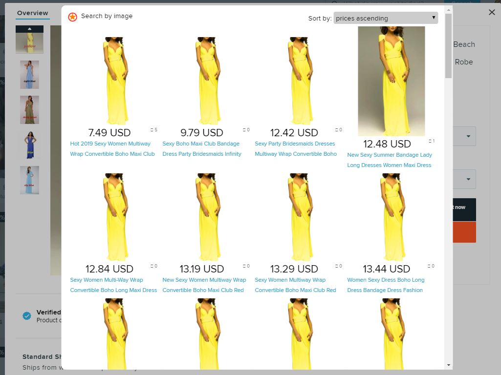 Search by the image Aliexpress Superstar wish dress result 2