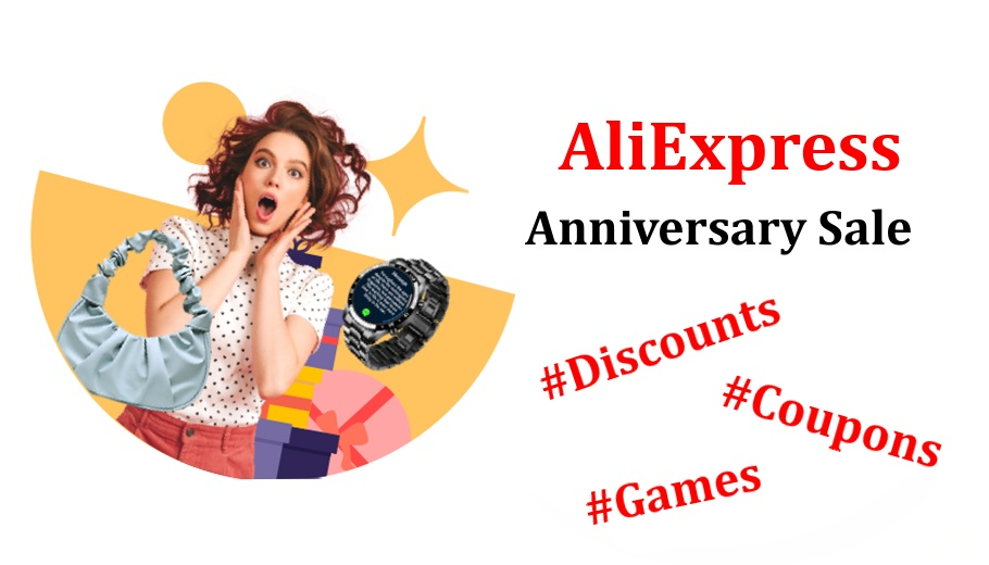 Aliexpress coupon anniversary sale discounts